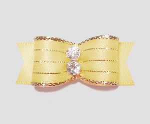 "#2176 - 5/8"" Dog Bow - Razzle Dazzle, Baby Yellow"