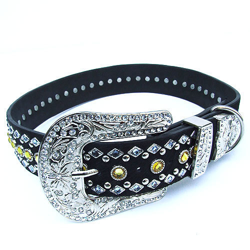 #8032 - Blue/Gold Swarovski Crystal Collar