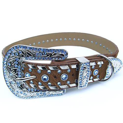 #8033 - Sky Blue Swarovski Crystal Collar