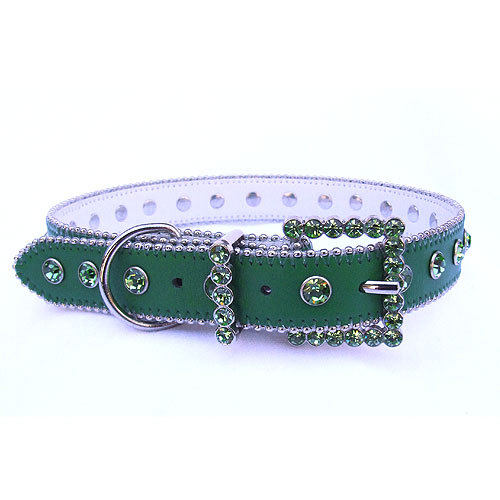 #8039 - Green/Green Swarovski Crystal Collar