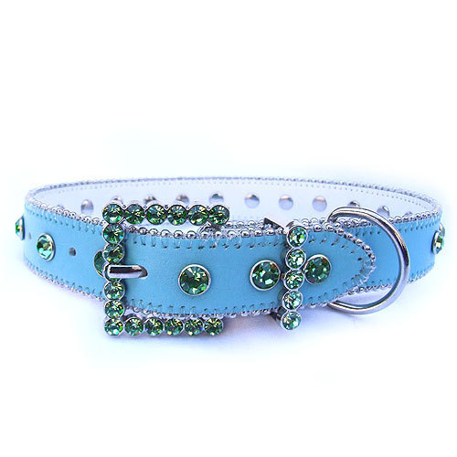 #8040 - Blue/Green Swarovski Crystal Collar
