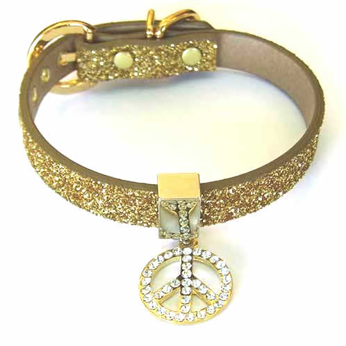 #214 - Twinkle Collar Gold - Peace in Circle