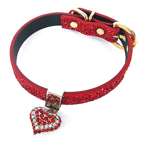 #215 - Twinkle Collar Red - Red Heart