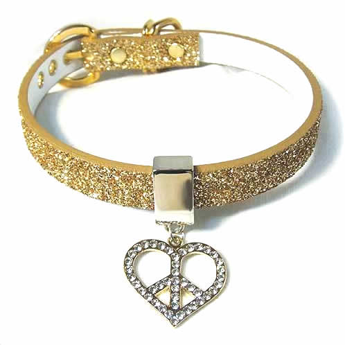 #221 - Twinkle Collar Gold - Peace in Heart