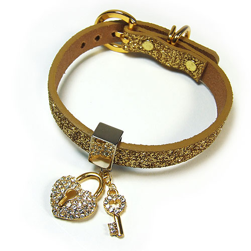#225 - Twinkle Collar Gold - Key to My Heart