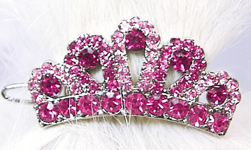 #100-10 - Swarovski Crown, Pink