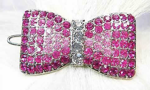 #100-14 - Swarovski Ribbon Bow, Pink