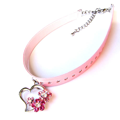 #NL147 - Crystal Flowery Heart Necklace