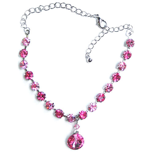 #NL149 - Baby Pink Sparkling Necklace